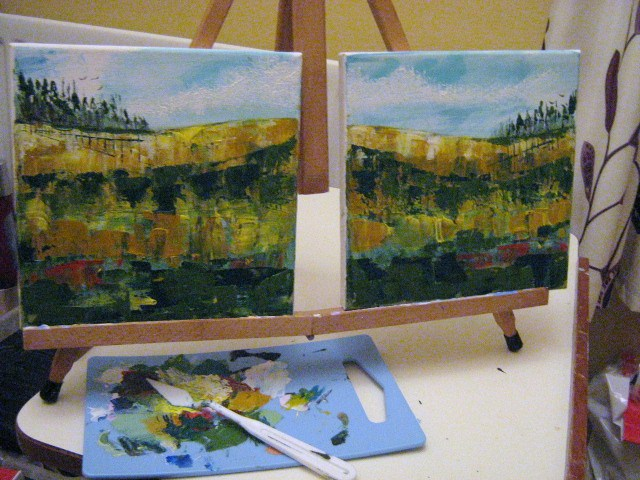 One Palette...Two Paintings!