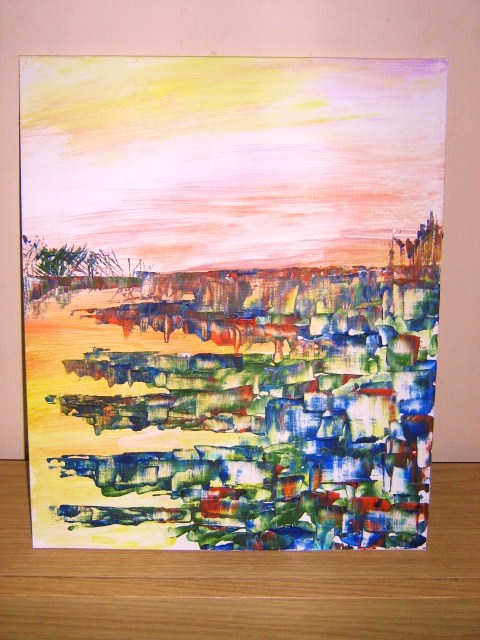 Wet afternoon in N.Ireland ...equals.. a new painting!
