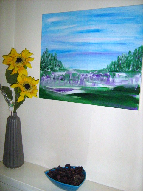Violet Dawn - 60 x 50 cms - Acryic on Canvas